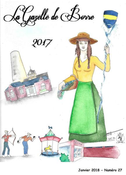 Première de couverture de La Gazette de Borre 2017 (Janvier 2018) Illustration de David-Eugène Desmet (DED Art)